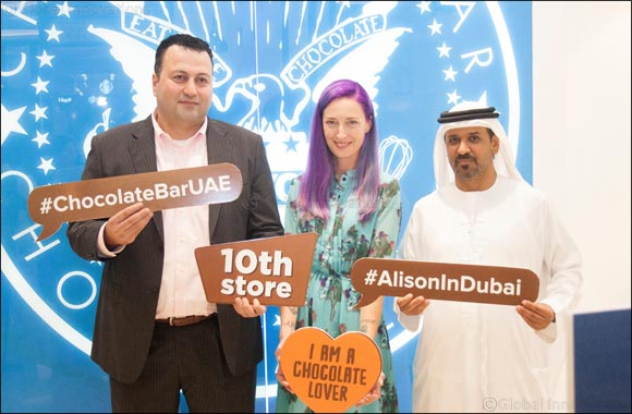 Alison Nelson, in Dubai to celebrate the opening of the tenth Chocolate Bar branch in the UAE