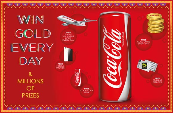 Excitement sweeps the UAE, Qatar and Bahrain, as Coca-Cola Middle East launches the 'Win Gold Everyday' Campaign.