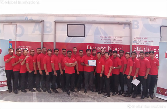 Joyalukkas conducts Blood Donation initiative in association with Hamad Hospital.