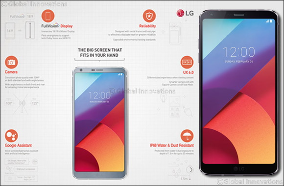 LG Unveils New G6 with a Large Fullvision Display Tailored to Fit in One-hand