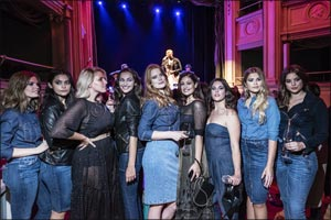 Let's Denim! The Ashley Graham for Marina Rinaldi capsule collection debuts in Milan.