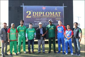CG of India declared Champion at the 2nd Diplomat Cricket Cup by Skyline University College