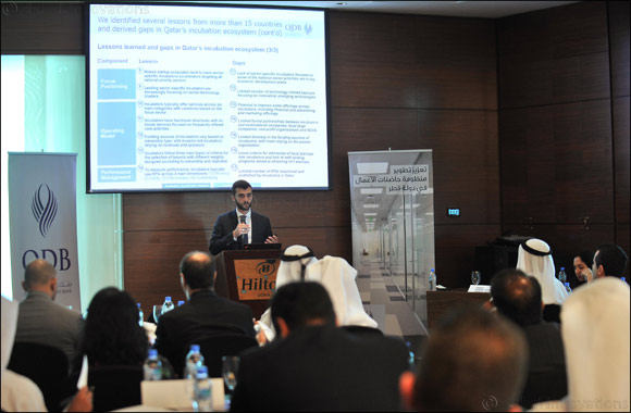 QDB organizes a workshop on national strategy for business incubators and business accelerators with the participation of 23 government and semi-governmental entities