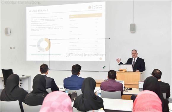 "al khaliji hosts Qatar University students for an intriguing session on ""Risk Management"""