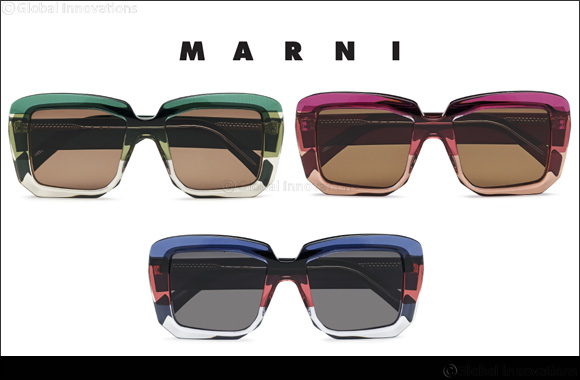 Marni Introduces Marni Rothko,  A 7-layer Acetate Frame With a Vivid, New Color Palette