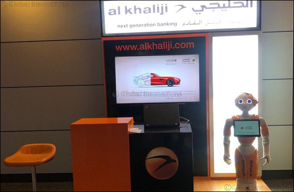 Al Khaliji's Humanoid Robot Noor Introduces Latest Banking Products to HIA Passengers