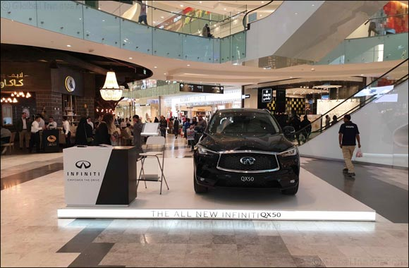 Infiniti Al Babtain Impresses Crowds with Infiniti QX50 at Al Kout Mall