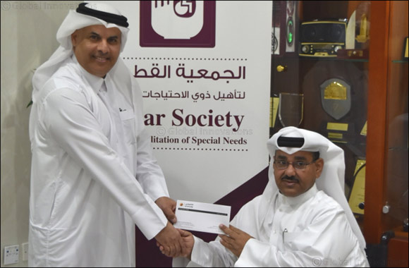 al khaliji extends its financial support to the Qatar Society for Rehabilitation of Special Needs