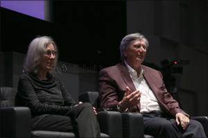 President of the Motion Pictures Academy John Bailey  and Film Editor Carol Littleton speak at NU-Q