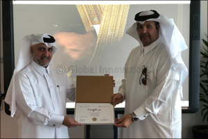 Qatar Finance and Business Academy Awards First Powerful Leader Certificate