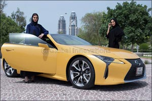 Lexus Qatar sponsors the 15th Heya Arabian Fashion Exhibition as Official Car.