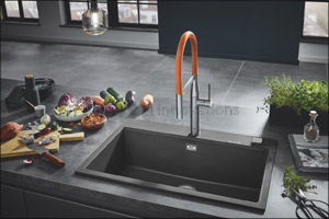 As if Made from One Piece: GROHE Offers Individual System Solutions for the Entire Work Area Around  ...
