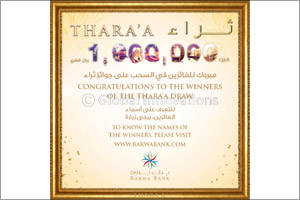 Barwa Bank announces the June draw winners  of its Thara'a savings account prize
