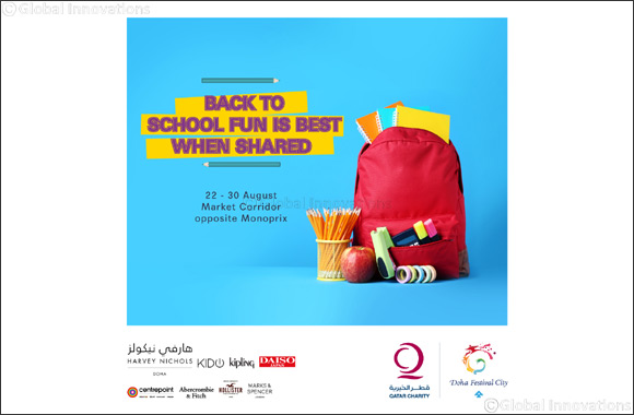 Donate a School Backpack for those in need at Doha Festival City