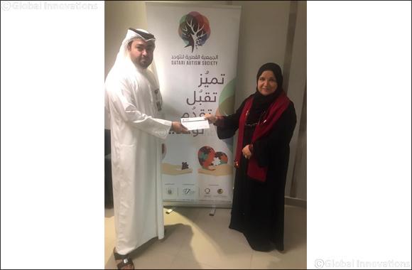 al khaliji donates to Qatar Autism Society