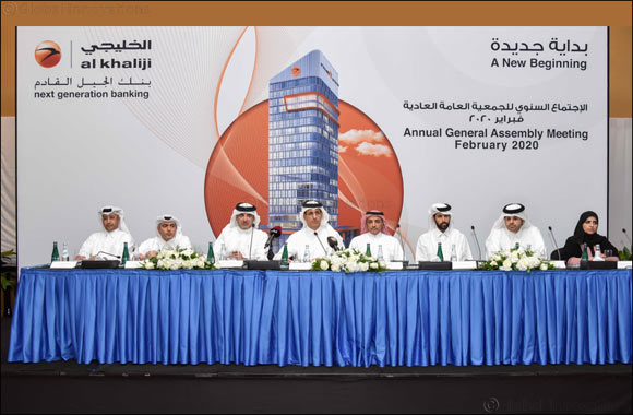 Al Khaliji's Shareholders Meeting  Endorses 2019 Financial Statements and  Approves Distribution of Cash Dividends