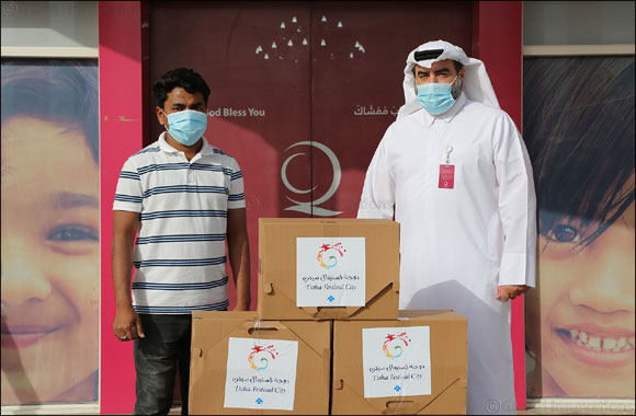 Doha Festival City Distributes Ramadan Food Essentials Baskets to Workers in Partnership with Qatar Charity