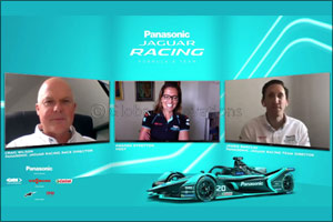 Panasonic Jaguar Racing Management Team Discuss Formula E's Return to Racing in Berlin