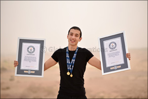 Egyptian Multi-Time Guinness World Records Titleholder Secures Another One in Front of Hibs Temple i ...
