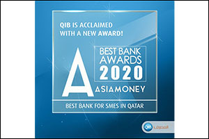 QIB Named Best Bank for SMEs in Qatar  at Asiamoney Best Bank Awards 2020
