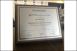 The Asian Banker Presents QIB Group CEO Top Award for �Best Bank CEO Response to COVID-19 in Qatar�  ...