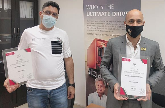UAE and Qatar Drivers Among the World's Ultimate Drivers in UD Trucks' 2020 Extra Mile Challenge