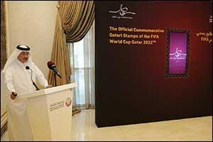 Qatar Post Launch the Official Commemorative Qatari Stamp of the FIFA World Cup Qatar 2022�