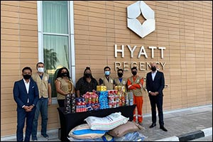 Hyatt Regency Oryx Doha Worked Together with Wa'hab to Distribute Essential Food Items to Local Comm ...